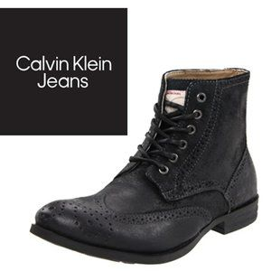 Calvin Klein Alex Brogue Boots - Size 9